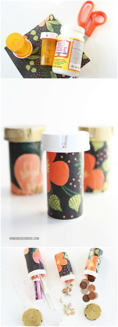 If you have a giant purse, I have a solution to losing things in the black hole - recycle pill containers into organizers! These are so easy to make. via @modpodgerocks