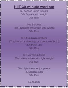 Another HIIT (high intensity interval training) workout! Best thing about it? It can be done at home with a set of weights. A heavy and lig...