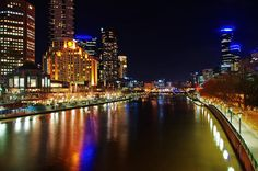 What could be a more memorable way to enjoy a meal in Melbourne than a gourmet dinner cruise along the Yarra River? Watch the city light up during this cruise, and enjoy Melbourne's noted fine dining in the comfort of a floating restaurant. Australia Tours, Melbourne Australia, Melbourne Skyline, Melbourne Travel, Best Japanese Restaurant, Floating Restaurant, Night City, City Lights, Lonely Planet