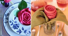 MOTHER'S DAY NAPKIN FOLDING AND TABLESCAPES.