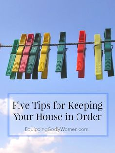 Anyone else struggle to keep up with the housework? These five tips help make housework a little easier!