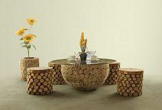 Bowl Wooden Living Set