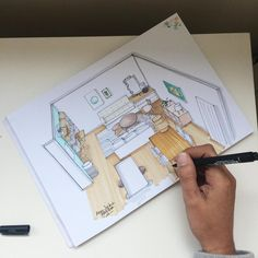 croquis, dessin, sketch, plan, layout, rought, pro marker, coaching deco, coach deco, decoratrice