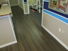 Vinyl plank flooring for your waiting areas. Great wear layer, 20year warranty, large and varied color selections, wood, stone, or material finishes.