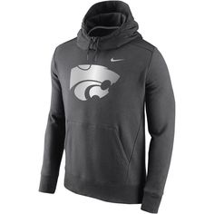 Kansas State Wildcats Nike Hybrid Fleece Pullover Hoodie - Charcoal - $59.99