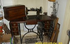 "Antique ""Domestic"" Treadle Sewing Machine Buy Now$125.00"