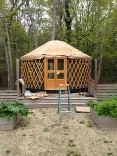 Yurt in your backyard. A home away from home. 7 Best Sources for Yurt Kits Yurt Kits, Cabin Kits, Building A Yurt, Yurt Home, Yurt Living, Shed Kits, Cabins In The Woods, Outdoor Rooms, Play Houses