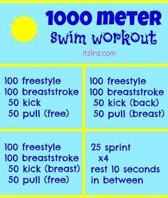 1000 Meter Swim Workout   itzlinz.com