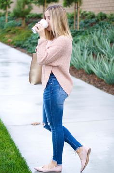 I'm so excited to share this post with you all because the blush pink craze is real and for good reason. I absolutely adore how this color can act as a neutral and adds a feminine touch to any look.