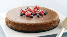 Why so many chocolate cheesecake recipes? My Food and Family knows chocolate cheesecake is always the right answer when someone asks you what's for dessert! Kraft Foods, Kraft Recipes, Chocolate Cheesecake Recipes, Chocolate Desserts, Melting Chocolate, Homemade Cheesecake, Chocolate Cake, Oreo Dessert, Dessert Table