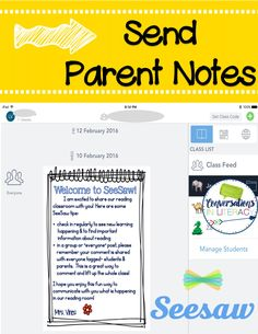 Easiest Parent Communication Ever! – Michael Lessard Easiest Parent Communication Ever! Parent Communication with Seesaw app Communication Avec Les Parents, Parent Teacher Communication, Notes To Parents, Parents As Teachers, Teaching Technology, Educational Technology, Technology Integration, Educational Leadership, Medical Technology