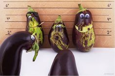 Eggplant can also carve? Very creative!
