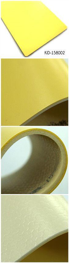 Yellow foam backing commercial vinyl sheet flooring. Vinyl Sheet Flooring, Rubber Flooring, Vinyl Sheets, Floor Design, Home Renovation, Floors, Sweet Home, Commercial, Yellow