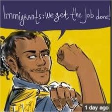 Immigrants, we get the job done. Cool musical solo