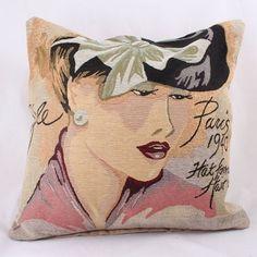 Povlak na polštář Dáma s mašlí Paris 1940 Disney Characters, Fictional Characters, Throw Pillows, Disney Princess, Art, Art Background, Toss Pillows, Cushions, Kunst