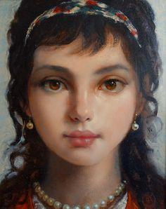 Ken Hamilton - Little Gypsy. Contemporary paintings for sale on CuratorsEye.com