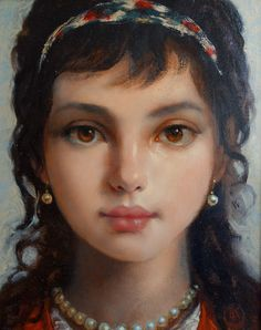 Ken Hamilton - Little Gypsy. Contemporary paintings for sale on CuratorsEye.com