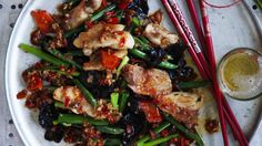 Chicken stir-fried in XO sauce