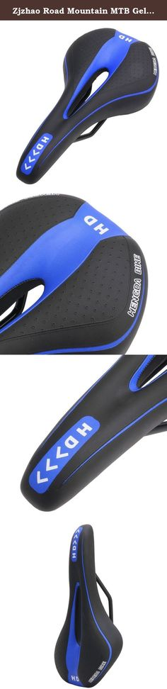 Zjzhao Road Mountain MTB Gel Comfort Saddle Bike Bicycle Cycling Seat Soft Cushion Pad (Black+Blue). 100% brand new and high quality Fashion and streamlined bicycle saddle design. Light weight. Thick elastic comfortable and breathable. Easy to wash. Practical reliable and durable. Best choice for riding essentials. Material:Polyurethane + Synthetic Leather + Steel Size(L*W):27cm x 14cm/10.53'' x 5.46''(approx) 6 Colors for choose:...