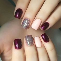 Best Fall Nails for 2018 - 45 Trending Fall Nail Designs - nail art galleries Fall Gel Nails, Winter Nails, Toe Nails, Fall Nail Ideas Gel, Nail Ideas For Winter, Simple Fall Nails, Fall Nail Trends, Cute Nails For Fall, Fall Manicure