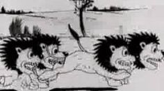 """Alice's Wonderland B Silent Laugh-O-gram Film.  Animado por Walt Disney. En su comienzo en la animación creó la serie """"Comedias de Alicia"""" entre 1924 y 1930 hibridadno la imágen real y animada, donde aparecía un personaje sorprendentemente parecido al Gato Felix llamado Julius."""