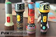 Kids Love it: Personalized Flashlights! #flashlights #decoart #camping