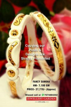 Designer Bangles, Gold Bangles Design, Gold Earrings Designs, Designer Earrings, Designer Wear, Jewelry Design, Bengali Bride, Bengali Wedding, Bengali Jewellery