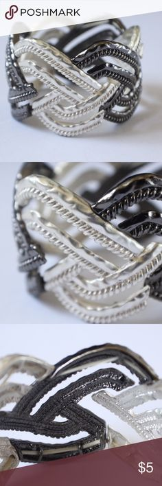 Selling this Black and White Stretchy Bracelet on Poshmark! My username is: lindsayishere. #shopmycloset #poshmark #fashion #shopping #style #forsale #Jewelry