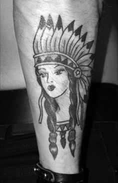 Tattoo's For > Traditional Native American Girl Tattoo