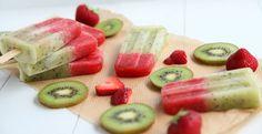 Kiwi en aardbeien ijsjes | Bye Bye Cheeseburger