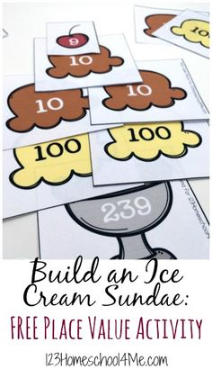 FREE Ice Cream Sundae Place Value Printables and Activity