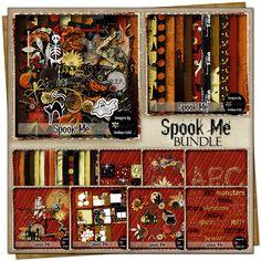 Spook Me  {Bundle} Page Borders, Customer Appreciation, Free Digital Scrapbooking, Project 365, Grab Bags, Vintage Ephemera, Page Layout, Journal Cards, Word Art