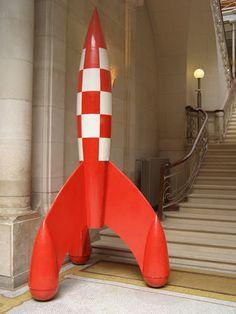 Tintin rocket in Le musse de la Bande Dessinee | Flickr - Photo Sharing!