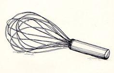 whisk sketch