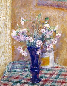 james bolivar manson(1879-1945), pink in a vase, c. 1949. oil on canvas, 50.8 x 40.6 cm. tate gallery, uk http://www.tate.org.uk/art/artworks/manson-pinks-in-a-vase-n05320
