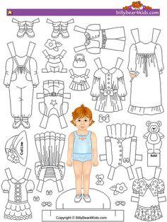 Paper doll printable to use as felt pattern Doll Patterns Free, Felt Patterns, Paper Toys, Paper Crafts, Paper Dolls Printable, Dress Up Dolls, Doll Quilt, Vintage Paper Dolls, Felt Dolls