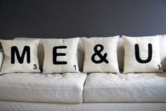 A-Z Scrabble Cushion - The Letteroom