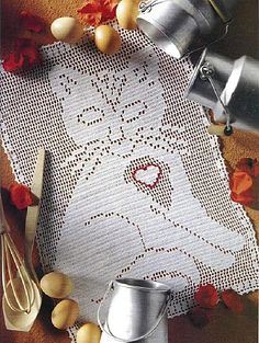 Cutiful kitty cat crochet filet work with diagram