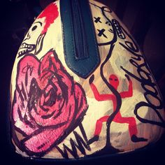 Hand bag customized by Traver Dodorye