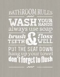 Bathroom Rules for sale at Walmart Canada. Get Home & Pets online for less at Walmart.ca