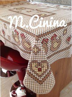 Bordado em tecido xadrez @M.cinina