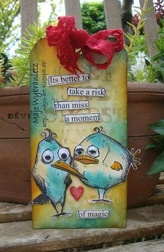 "*Majos Art* - Tim Holtz ""Birds Crazy"""