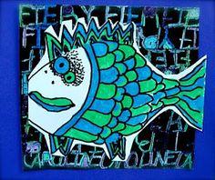Da Vinci's Wings: 3rd Grade Fish Inspired by Paul Klee