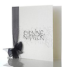 Black Promise Evening Invitation by Mandalay
