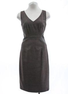 Amazon.com: Anne Klein Coffee Brown Patch Sheath Dress: Clothing