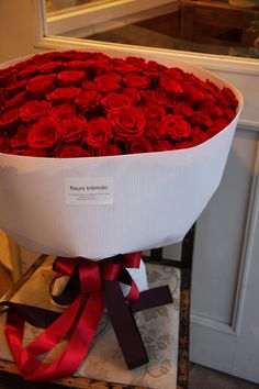 "100 red roses for the sweetest proposal- who would say ""no?""!!!!!"