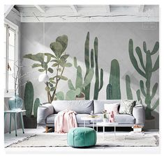 Watercolor Hand Painted Cactus Tropical Plants Wallpaper Wall Mural, Watercolor Cactus Wall M. Watercolor Hand Painted Cactus Tropical Plants Wallpaper Wall Mural, Watercolor Cactus Wall Mural, H, Wallpaper Wall, Plant Wallpaper, Hand Painted Wallpaper, Hand Painted Walls, Painted Wall Murals, Painting On Wall, Wall Paint Brush, Custom Wall Murals, Tropical Wallpaper