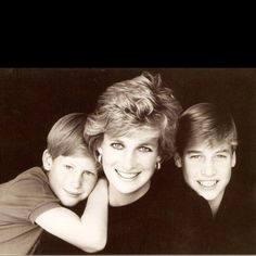 Princess Diana, Prince William and Harry.
