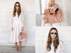 Clothes: H&M shirt, Zara skirt Bag: Mulberry Accessories: Antonym jewelry, Anna Dello Russo sunglasses Shoes: Valentino