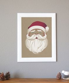 Look at this #zulilyfind! Santa Print by Children Inspire Design #zulilyfinds
